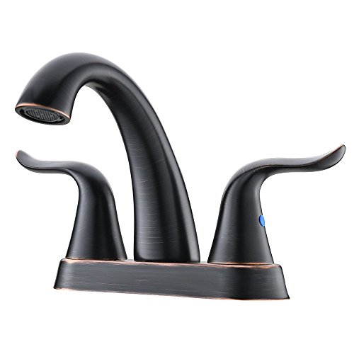 Black Antique Vanity - Antique Two Handle Two Lever Black Oil Rubbed Bronze Solid Brass Bathroom Lavatory Vanity Faucet, Bathroom Sink Faucets Black With Hot And Cold