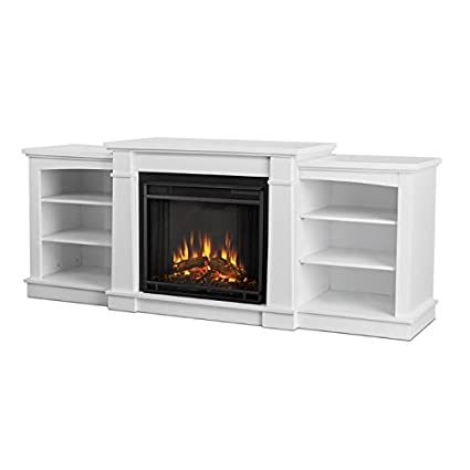 white fireplace tv stand Amazon.com: Real Flame Hawthorne Electric Fireplace TV Stand in  white fireplace tv stand