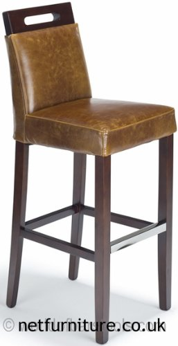 Astonishing Netfurniture Modern Bar Stool Tan Leather Amazon Co Uk Machost Co Dining Chair Design Ideas Machostcouk