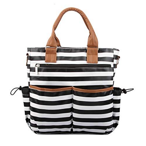 Respctful✿ Multi Pocket Canvas Bag Women Top-Handle Shoulder Bag Large Capacity Shopping Bag Tote Work Bag