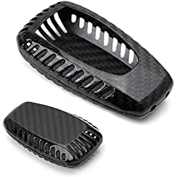 iJDMTOY (1) Real Carbon Fiber Gloss Black Key Fob Protective Cover Case For 2013-up Subaru BRZ, 2015-up Subaru Legacy, Outback, XV Crosstrek, 2016-up WRX or STi, 2017-up Forester Impreza, etc