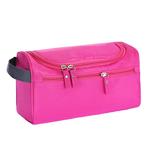 (Tpingfe Travel Wash Bag Men Women Toiletry Organizer Pouch Shaving Cosmetic Makeup Case (Hot Pink))