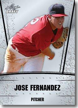 2011 Leaf Draft Silver Prospects Baseball Card #24 Jose Fernandez - Florida Marlins (Prismatic Design)(Rookie / Prospect)(Baseball Trading Cards) - Florida Marlins Sign