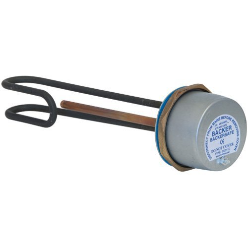 Backer 09733VS 11-Inch Incoloy Immersion Heater includes Thermostat