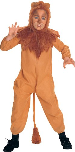 Wizard of Oz Child's Cowardly Lion Costume, Small (Child Wizard)