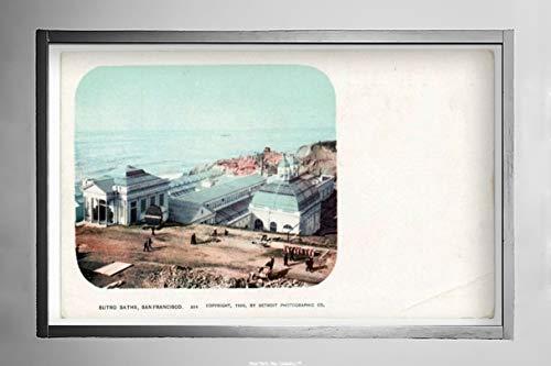 (New York Map Company  Sutro Baths, San Francisco, Calif, 1899 Postcard Vintage Antique Fine Art Reproduction Photo |Size: 7x12|Ready to Frame)