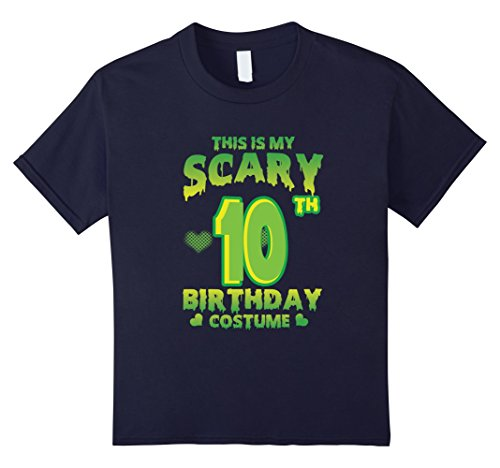 Kids Halloween Costume For 10 Years Old. 10th Birthday Shirt. 12 (Cool Halloween Costumes For Ten Year Olds)