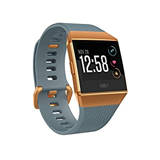 Fitbit Ionic GPS Smart Watch, Slate Blue/Burnt Orange, One Size (S & L Bands Included) (B074VNDGND) | Amazon Products