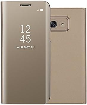 Funda® Espejo Enchapado Flip Samsung Galaxy A5(2017) (Oro): Amazon ...