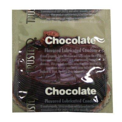 Trustex Chocolate Flavor Lubricated Condoms 100-Pack - Trustex Chocolate Flavored Condoms