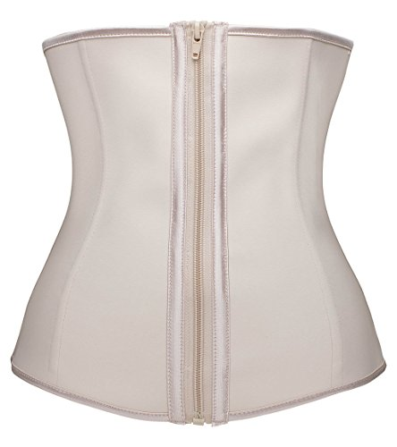 YIANNA Women Latex Underbust Waist Training Corsets/Cincher Zip&Hook Hourglass Body Shaper