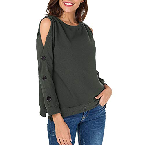 Blouses for Womens,DaySeventh Women Sweatshirts Pullover Cold Shoulder Long Sleeve Loose T Shirt Blouses Top