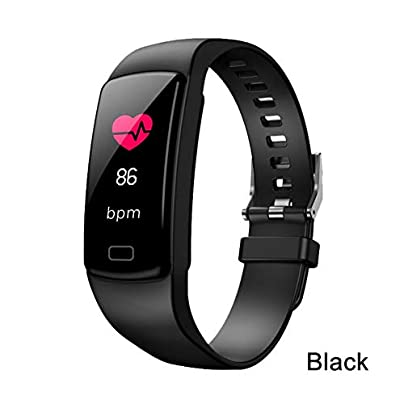ZCPWJS smart wristband Plus Smart Bracelet Waterproof Fitness Tracker Smart Wristband Heart Rate Pedometer Blood Oxygen Multi Sport Band Black Estimated Price £30.24 -