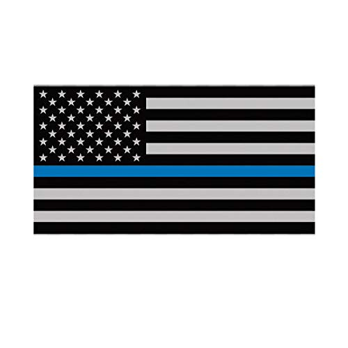 (Morgan Graphics Thin Blue Line Subdued American Flag Sticker Decal Vinyl Law Police USA US Vinyl Decal Sticker Car Waterproof Car Decal Bumper Sticker 5