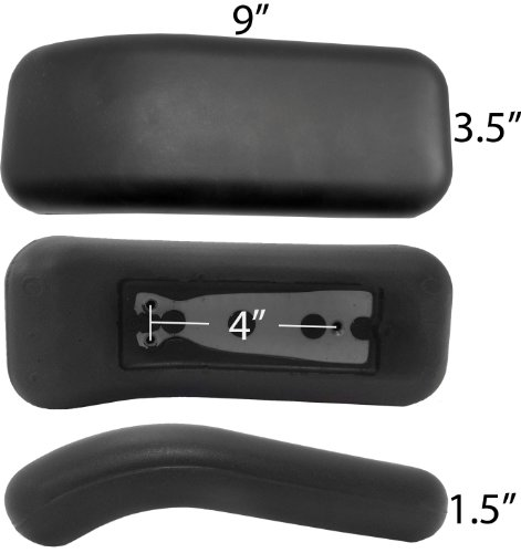 chairpartsonline Replacement Armrest Arm Pad - Fits Herman Miller Equa Chair - Non-OEM (Set of 2) S4109-1 by chairpartsonline