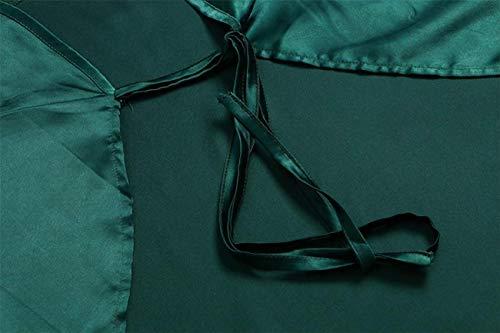 Capuche Manches Surdimensionné Longues Automne Set Medium Outwear Femmes Mode Rayé Sleepcoat Sweat De Vert Vert Solide D'hiver À Et Dames Hauts Pyjama Taille coloré FxAFp