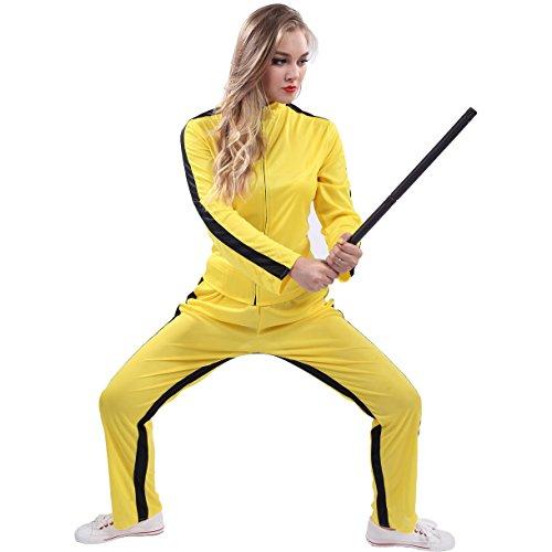 Woman's Kung Fu Costumes (Dragon Yellow) (Medium)]()