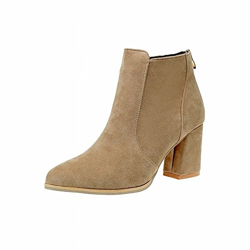 Boots Martin Women's Boots All 5 light brown Heeled Rugged Shoes Match Shoes 35 High EUR Women's RTCwp
