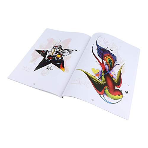 108 Pages Gorgeous Tattoo Art Designs Flash Manuscript Sketch Line Book Dragon Figures Skull Birds Flowers Butterfly…