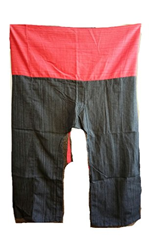 2 Tone Thai Fisherman Pants Yoga Trousers Free Size Cotton Bright Red and - Half Jacket Oakley Sale