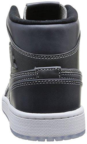 NIKE 629151 004 - Zapatillas de correr de piel sintética hombre multicolor - Mehrfarbig (WOLF GREY/BLACK WHITE)