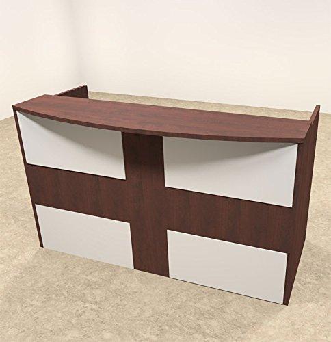2pc Rectangular Modern Acrylic Panel Office Reception Desk, #OT-SUL-R14 by UTM