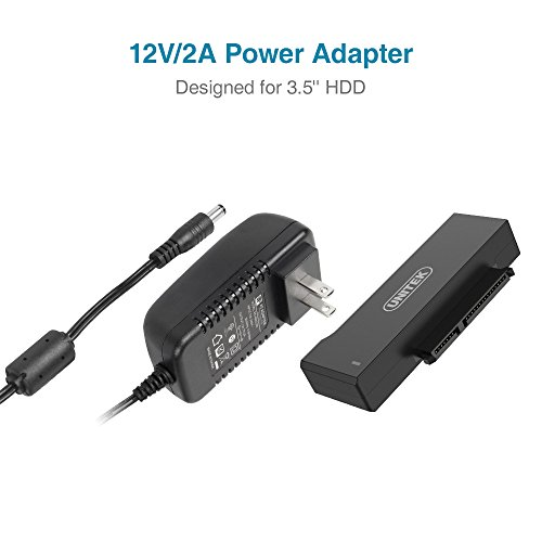 Unitek USB to SATA Adapter, USB 3.0 to SATA III Adapter Cable universal 2.5/3.5 HDD/SSD Hard Drive Disk SATA Optical Drive, Include 12V/2A Power Adapter - [Upgraded Version] by Unitek (Image #3)'