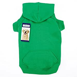 """Casual Canine Basic Hoodie for Dogs, 20"""" Large, Green"""