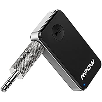 Mpow Bluetooth Receiver, Streambot Bluetooth Adapter & Hands-Free Car Kits, Mini Wireless Music Adapter for Home/Car Stereo Audio System,Black