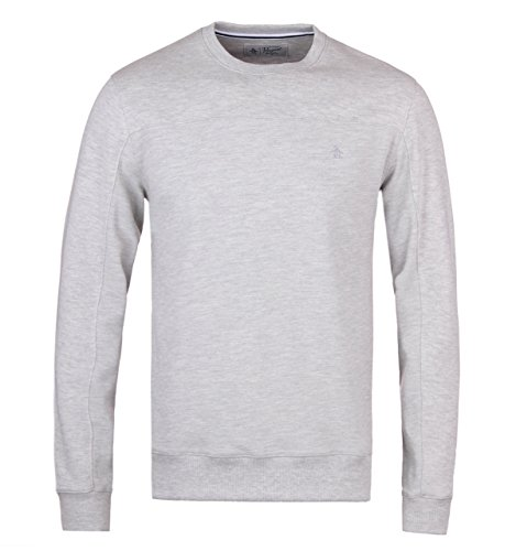 Sudadera De Hombre Paneles Con Textura Original Penguin Mirage Grey Heather