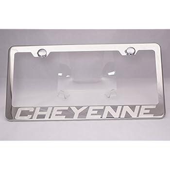 Chevrolet Suburban Mirror Polish 3D Finish Logo Stainless Steel License Plate