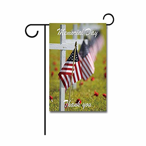 Display Flag Memorial Day (KafePross Memorial Day God Bless American Garden Flag 12.5