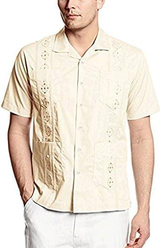Camisa de vestido Casual de guayabera los hombres (grandes ...