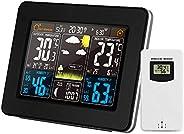 OWSOO Cor Estação meteorológica interna/externa Temperatura sem fio Umidade Barômetro Termômetro Higrômetro Re