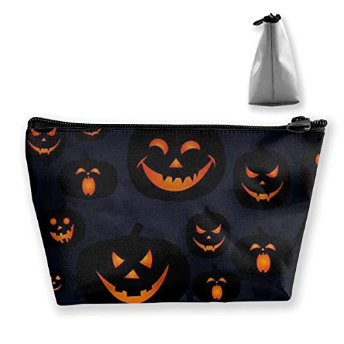 Cosmetic Bag Halloween Jack O Lantern Makeup Clutch Pouch Waterproof Travel Toiletry Storage Bag]()