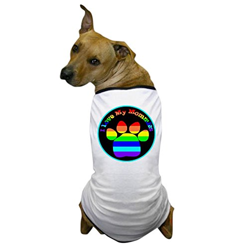 CafePress - I Love My Mommies Dog Tee Dog T-Shirt - Dog T-Shirt, Pet Clothing, Funny Dog Costume (Unique Pet Costumes)