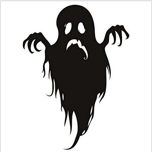 oyorule Happy Halloween Household Room Black Wall Sticker Mural Decor Decal Removable New ()