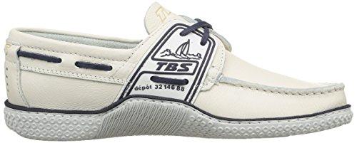 TBS - Mocasines de cuero para hombre Blanc (Blanc Encre)