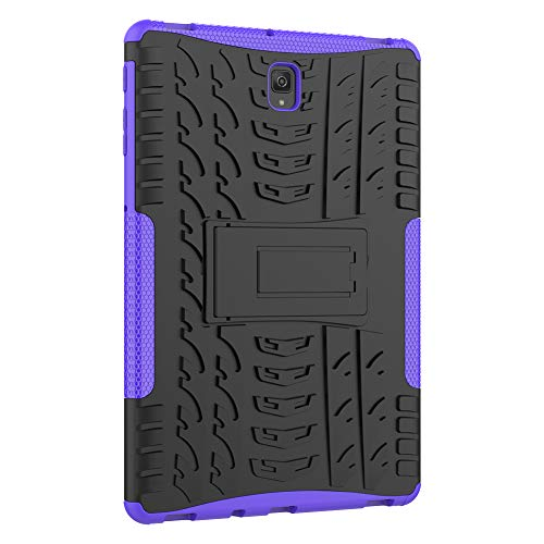 Galaxy Tab S4 Tablet Case 10.5 SM-T830/T835/T837 2018 Roiskin Anti-Slip Shockproof Excellent Impact Resistance Dual Layer Heavy Duty Protective Case Cover with Kickstand-Purple