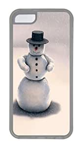 iPhone 5C Case and Cover -Christmas snowman TPU Silicone Rubber Case Cover for iPhone 5C and iPhone 5C Transparent