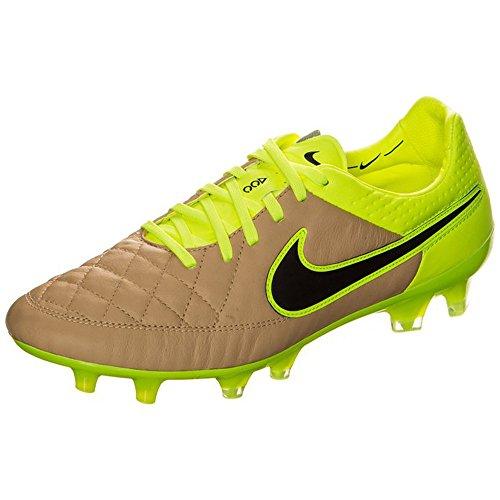 Nike Tiempo Legend V FG, Scarpe da Calcio Uomo Nero / Verde (Tela / Black-volt-volt)