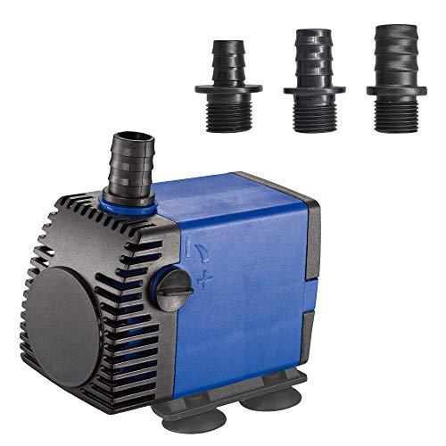 JAJALE 800 GPH Submersible Water Pump Ultra Quiet for Pond,Aquarium,Fish Tank,Fountain,Hydroponics
