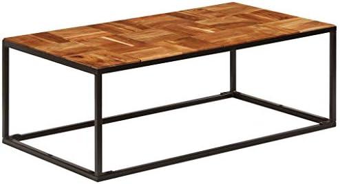 Betaalbaar Tidyard salontafel 110 x 40 x 60 cm massief hout acacia en staal koffietafel met metalen frame Uy0E8qa