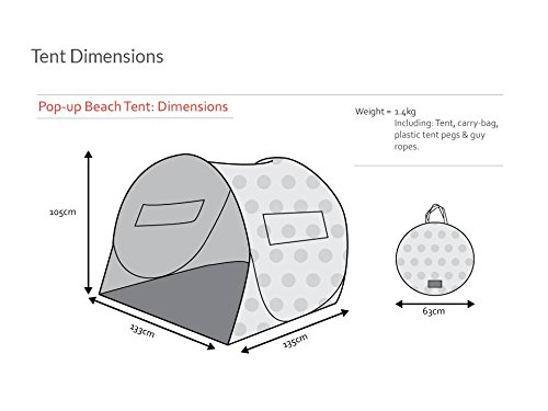 Amazon.com Shore and Sunshine Pop Up Beach Tent Sun Shelter Yellow paper planes print Sports u0026 Outdoors  sc 1 st  Amazon.com & Amazon.com: Shore and Sunshine Pop Up Beach Tent Sun Shelter ...