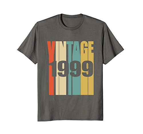 Mens Retro Vintage 1999 T-Shirt 19 yrs old Bday 19th Birthday Tee XL Asphalt (1999 Tee)