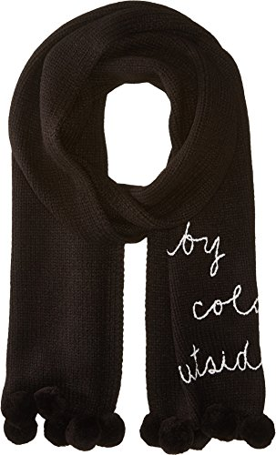 Kate Spade New York Womens Baby It's Cold Outside Muffler Black/Cream One Size by Kate Spade New York