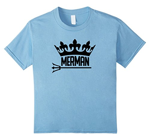Baby Merman Costume (unisex-child Merman Mermaid T-Shirt 4 Baby Blue)