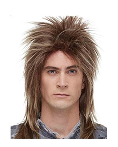 Joan Jett Costumes (Men's Long Rocker Wig, Frosted Brown)