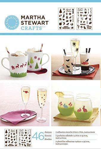 (Martha Stewart Crafts Adhesive Stencils (5.75 by 7.75-Inch), 32304 46 Holiday Icons II Designs (92509))