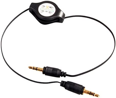 V-8 3.5mm Auxiliary Audio Cable Male to Male Stereo Audio Aux Cord 1.7 Feet.5 Meters